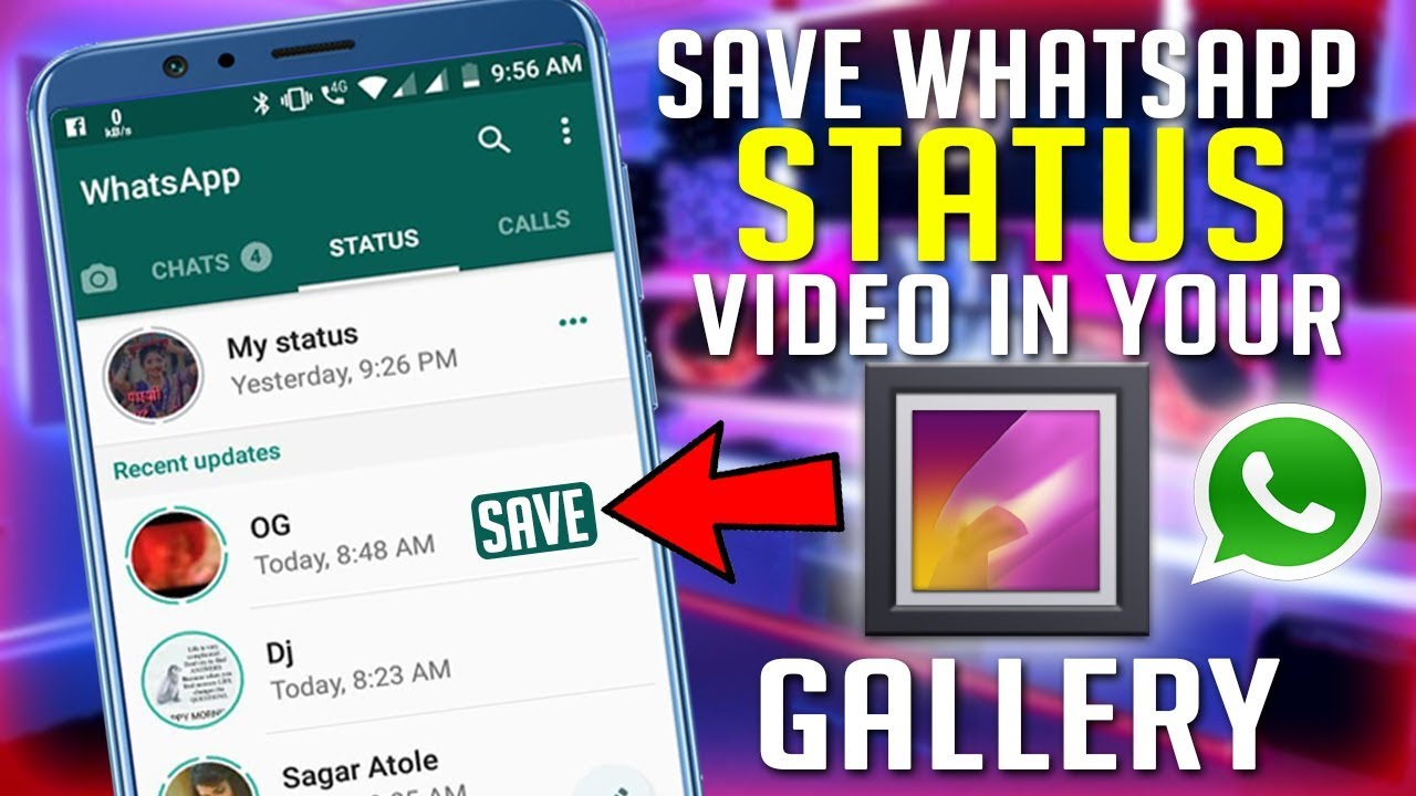 How To Save WhatsApp Status Video And Picture In Your Gallery - Download  WhatsApp Status Video