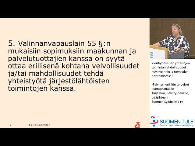 3. Yleishyödyllisten yhteisöjen toimintamahdollisuudet. Tuija Brax Suomen Sydänliitto