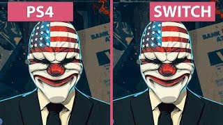 [1080p] PayDay 2 – Switch vs. PS4 Graphics Comparison & Frame Rate Test
