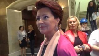 Krystyna Krzekotowska w kampanii wyborczej do Senatu RP
