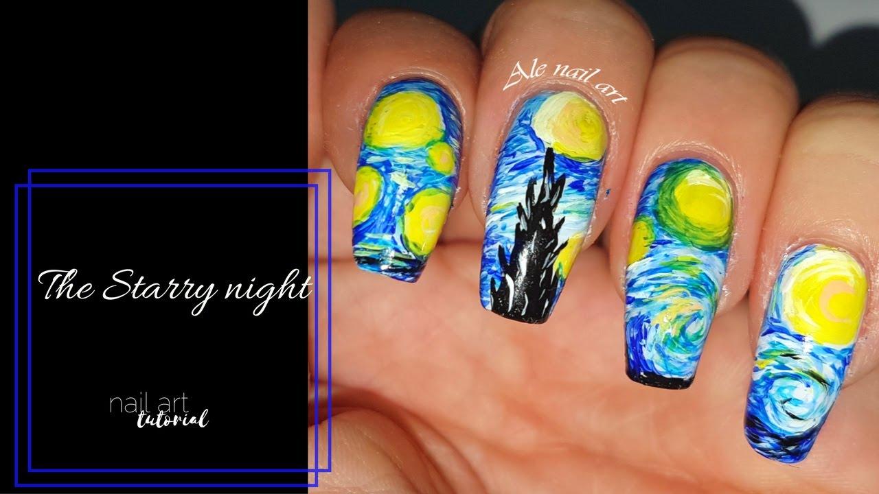 Van Gogh Nails La Notte Stellata Ale Nail Art