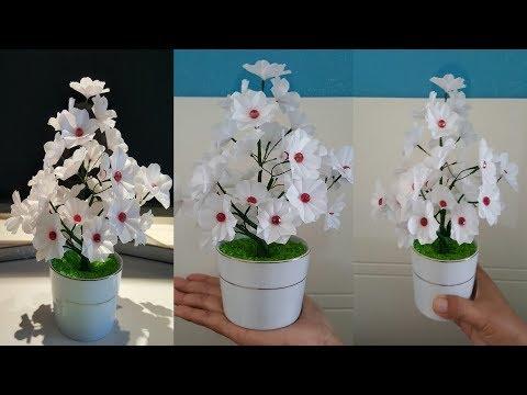 Diy Bunga Menakjubkan Dari Kantong Kresek How To Make Flowers From Plastic Youtube