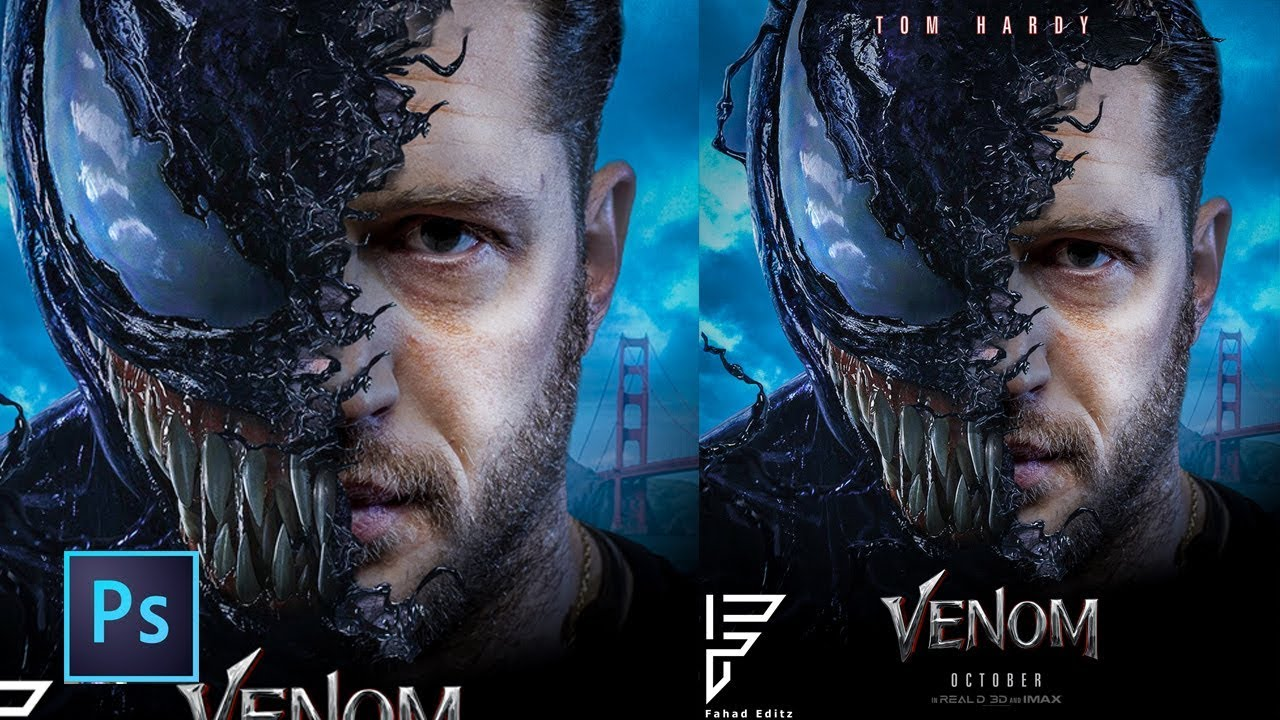 2018 Movie Posters: How To Edit Venom 2018 Movie Poster