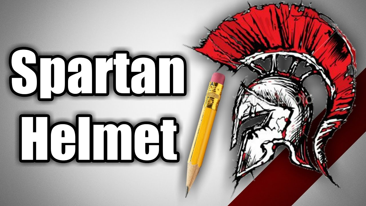 How To Draw Spartan Helmet Youtube