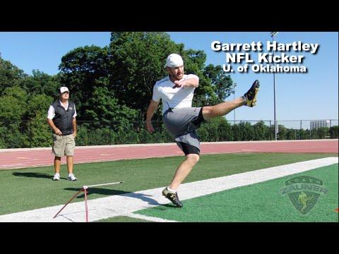 Garrett Hartley NFL Kicker, Field Goal Workout With Coach Zauner