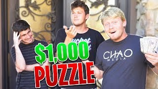I HID $1,000 IN THE 2HYPE HOUSE AND GAVE ROOMATES PUZZLES TO FIND IT!