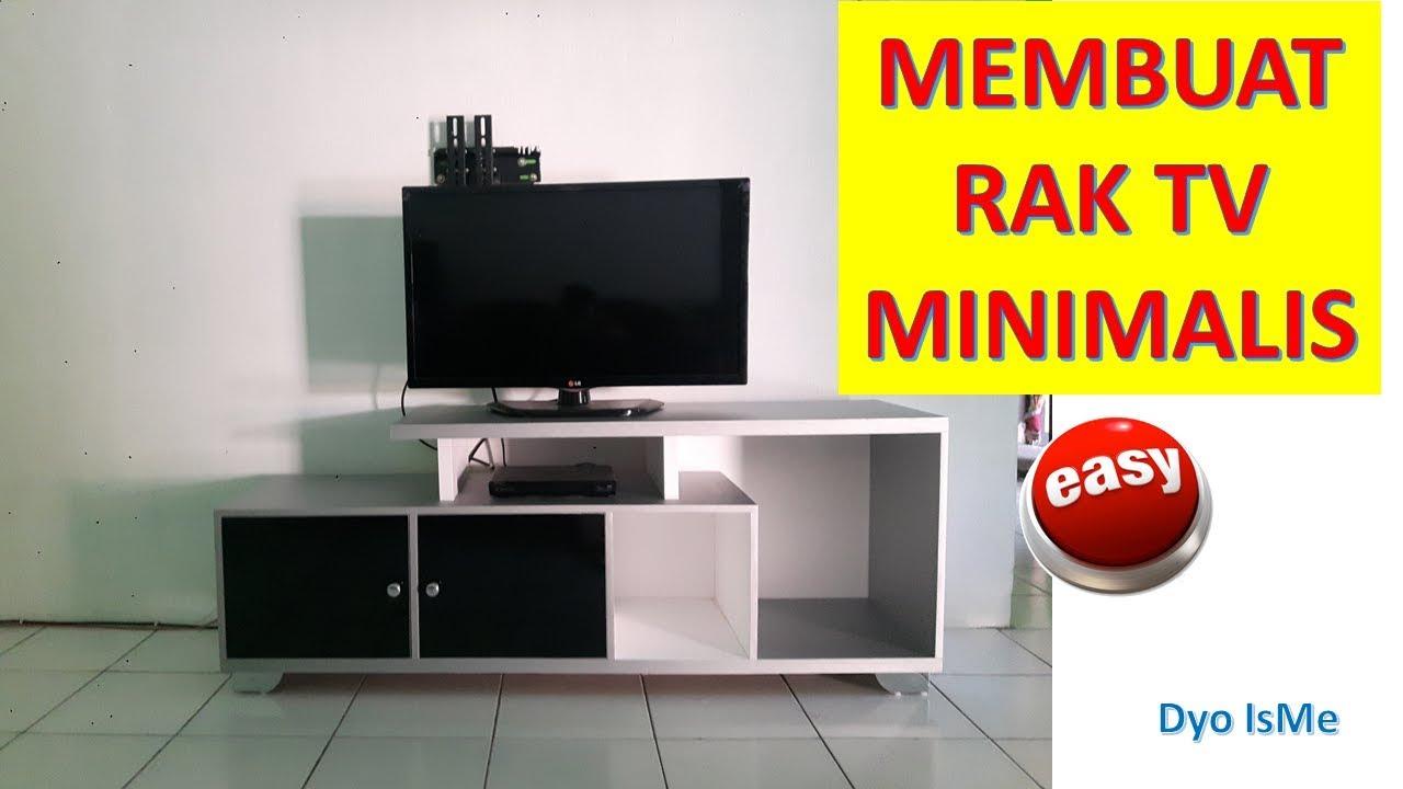 Cara Membuat Rak TV minimalis  DIY TV RACK  YouTube