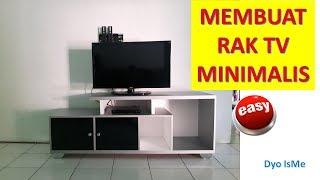 Cara Membuat Rak TV minimalis || DIY TV RACK