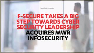 F-Secure Acquires MWR InfoSecurity – Webcast recording