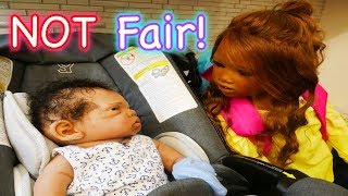 Silicone Baby Big Sister First Day of Back to School with Baby Winter!