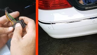 False positives of parking sensors on the Mercedes W211,W219. Correction / Malfunctions parktronic