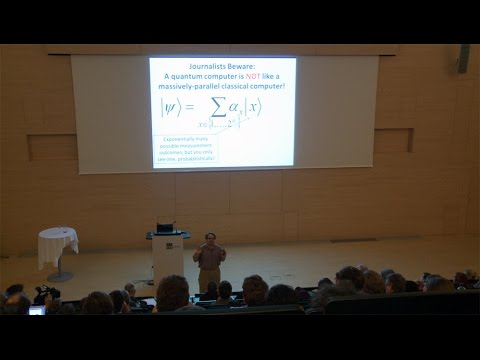 "IST Lecture: ""Computational Complexity and Fundamental Physics"" by Scott Aaronson"