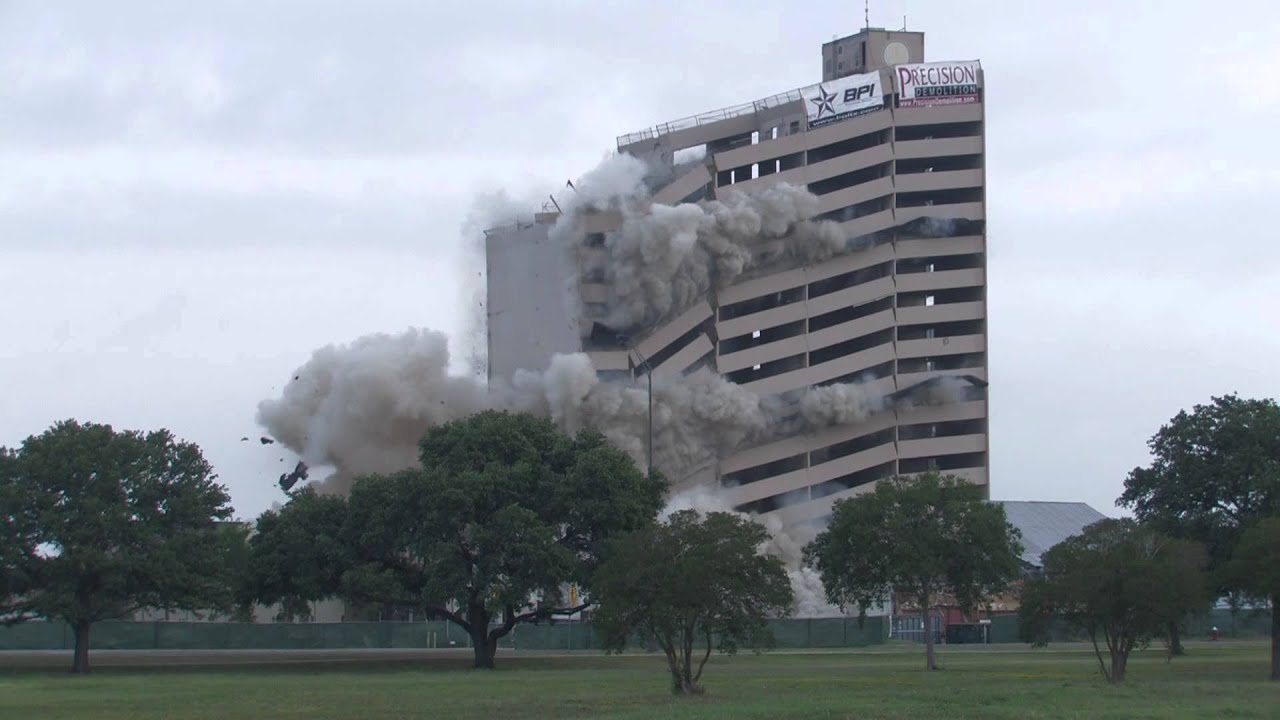 Plaza Hotel Implosion College Station Tx