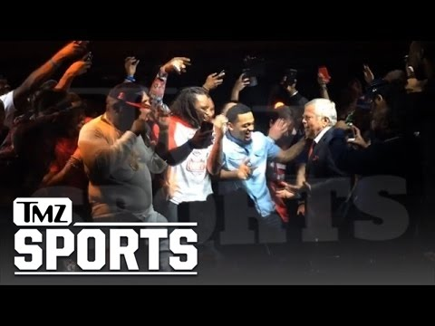 Patriots owner Robert Kraft getting on the stage and turning up with Rick Ross- EPIC!!! | TMZ Sports