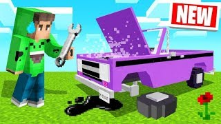 BUILDING And DRIVING CARS In MINECRAFT! (How To)