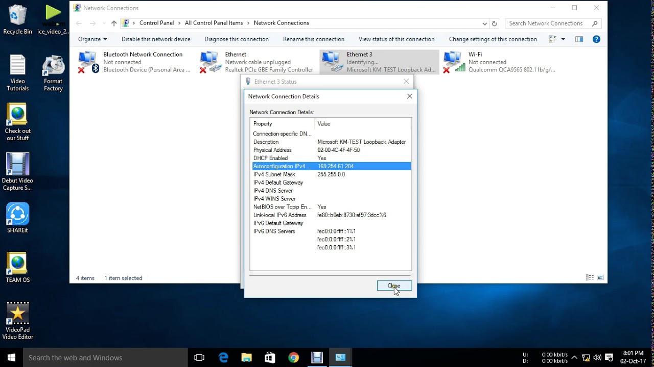 how to find lan ip address windows 8