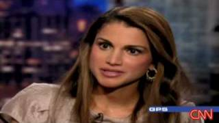 HM Queen Rania interview with CNN. Part 2 0f 2