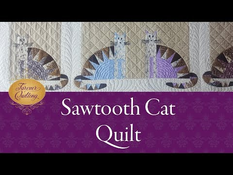 continuous-longarm-quilting-on-the-sawtooth-cat-quilt
