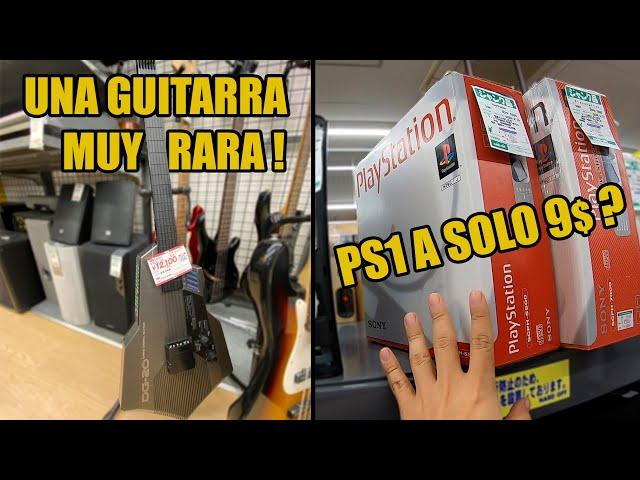La BUSQUEDA de lo RETRO en JAPON | una guitarra marca CASIO? , Una playstation 1 a 9 dolares?