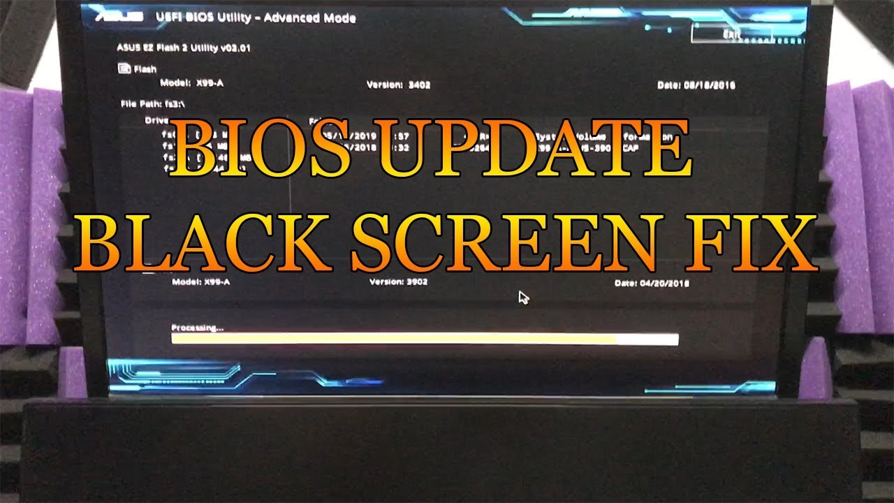 ASUS MOTHERBOARD BIOS UPDATE BLACK SCREEN!! FIX!! -How to Fix It