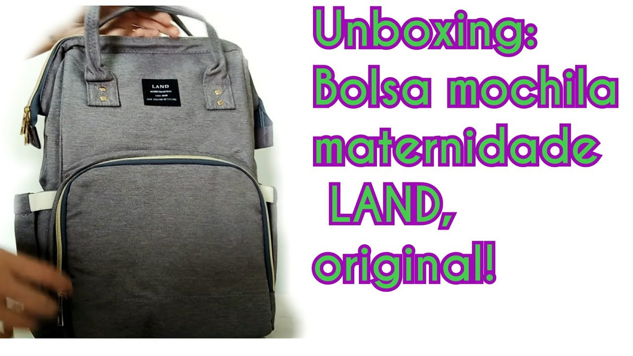 645c0e610 Unboxing Bolsa mochila maternidade land original importada. FANTÁSTICA!