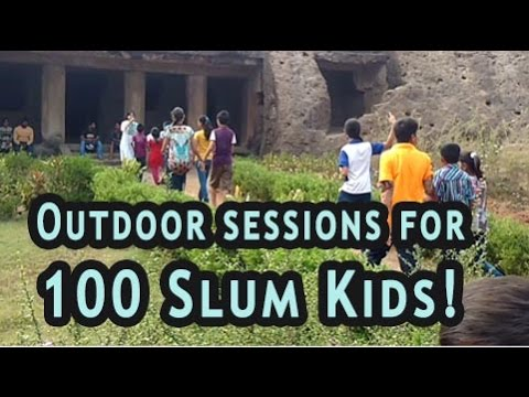 Fun outdoor Session for slum kids in Mumbai - by Limitless