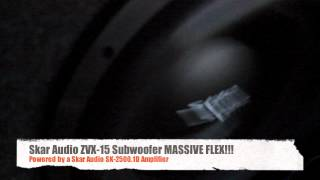 MASSIVE Subwoofer Excursion Video! Skar Audio ZVX-15 in Action!!!