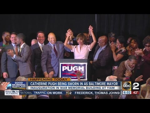Catherine Pugh to be sworn in as Baltimore