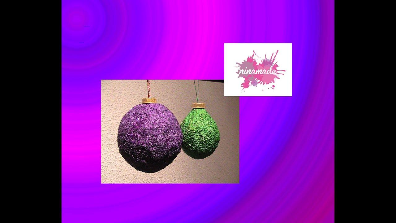 Como decorar una bola de navidad os dejo algunas fotos ms - Como decorar una bola de navidad ...