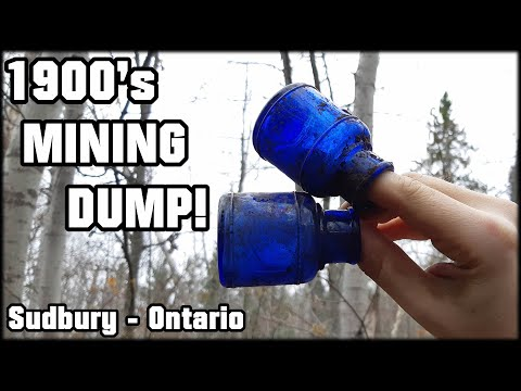 Uncovering Forgotten Treasures From The Early 1900s!  Gold Mine Bottle Dump! Sudbury Ontario Part 2