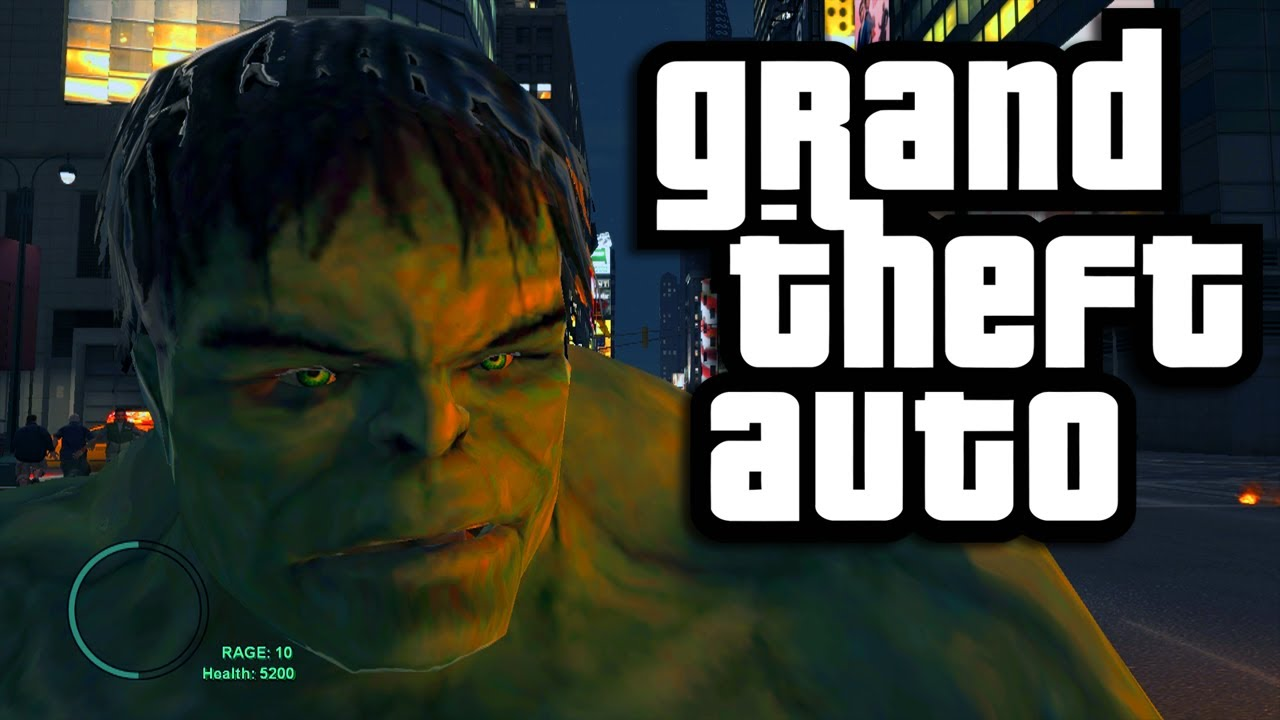 GTA 4 PC Mods: The Incredible Hulk (Funny Moments with Mods