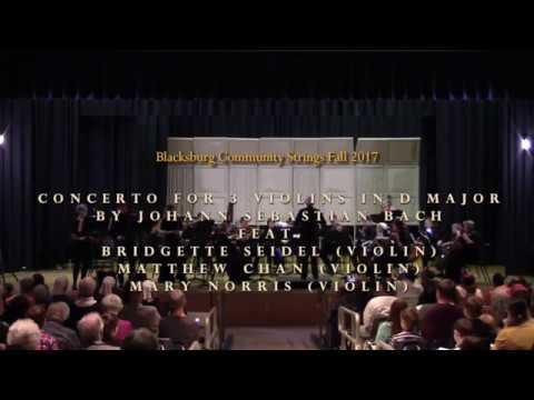 Bach / Concerto for 3 Violins in D Major