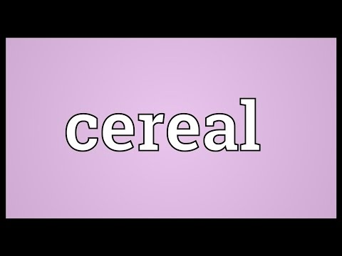 Cereal Meaning