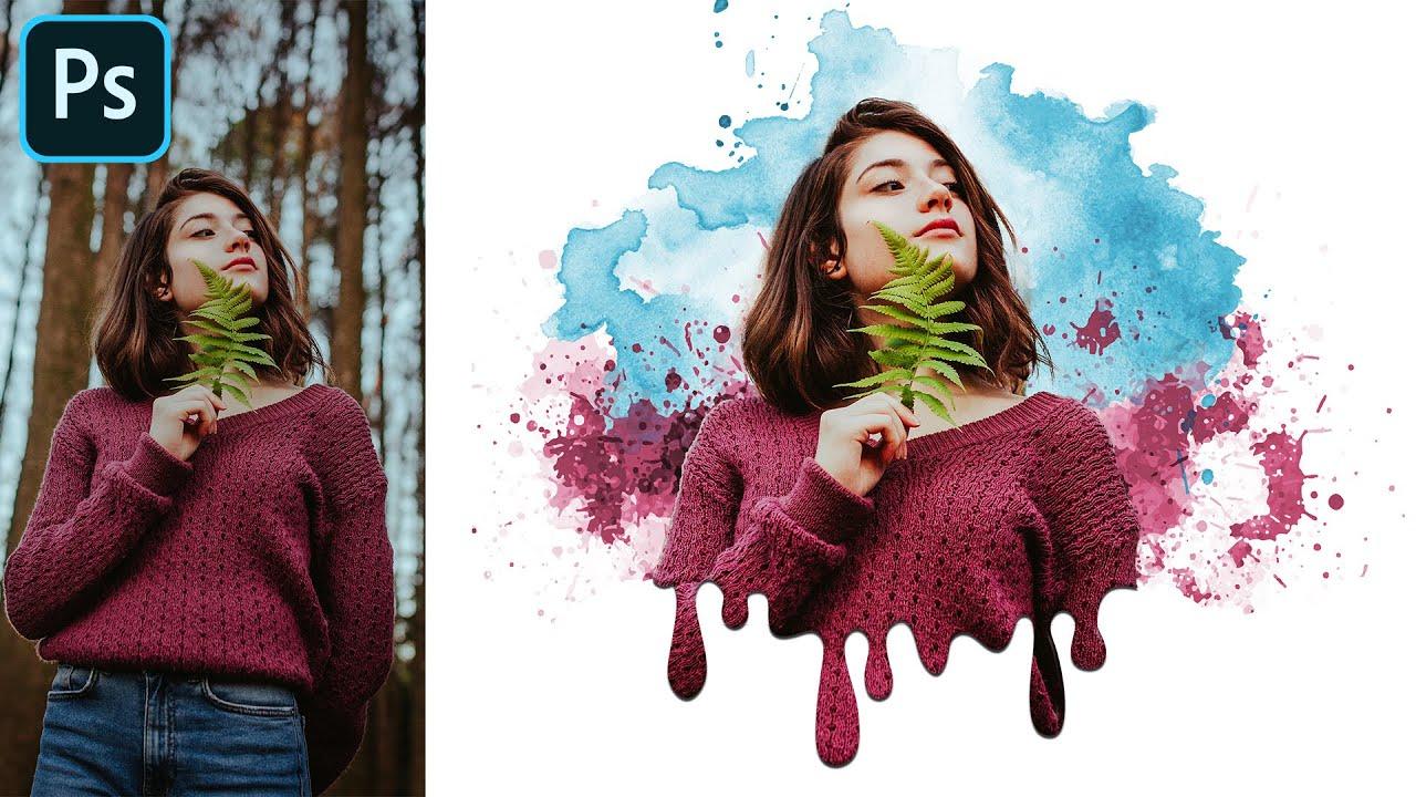 Dripping Paint Splatter - Portrait Effect - Photoshop Tutorial