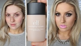 First Impression Review ♡ ELF Studio Acne Fighting Foundation!