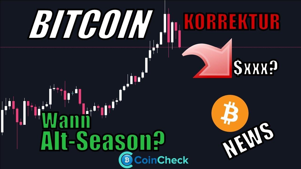 Wie weit geht die Bitcoin Korrektur & Wann startet die Altcoin Season? Krypto News Deutsch