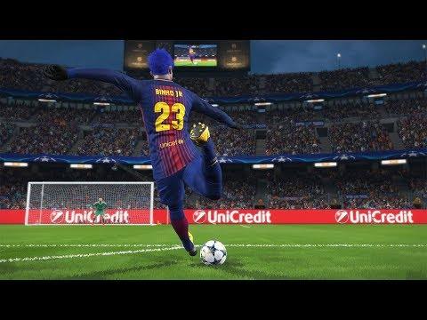 BARCELONA VS MILAN, OITAVAS DE FINAL CHAMPIONS LEAGUE - PES 2018 - RUMO AO ESTRELATO #116