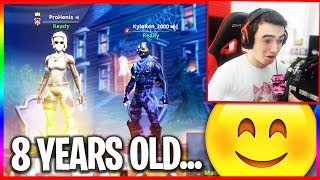 8 Year Old Fortnite Player... (Funny Random Duos)
