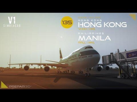 P3DV4 | B744 | Hong Kong → Manila
