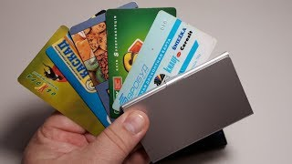Card Holder Wallets Pocket Case Creative Aluminum Metal Business ID держатель кредитной карты