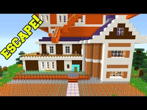 Minecraft: ESCAPE NEIGHBOR'S HOUSE!!! - SECURE BASE ESCAPE IN MINECRAFT