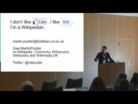 Open education on Wikipedia's sister projects - Martin Poulter at OER16