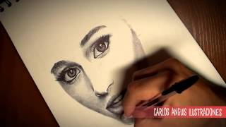 Drawing Ariana Grande (Dibujando a Ariana Grande)
