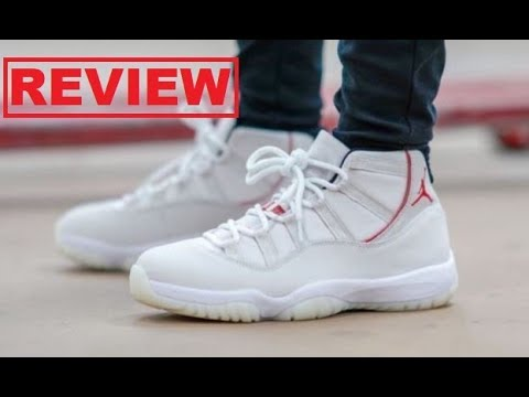 eba95ed19fc111 Air Jordan 11 XI Platinum Tint Retro Sneaker HONEST Shoe Review -DONT BUY  WITHOUT WATCHING!