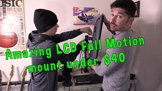 How to Install LED LCD TV to Table Desk Mount Setup