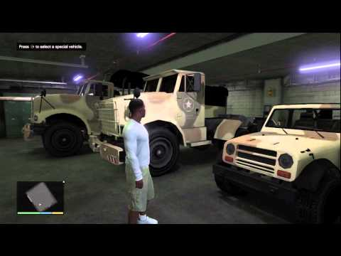 GTA V - Military Vehicle Storage (Grove Street Garage)