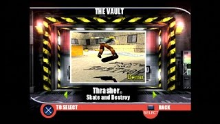 PlayStation Underground Jampack Winter 99 Gameplay Part 8 - Thrasher Skate and Destory