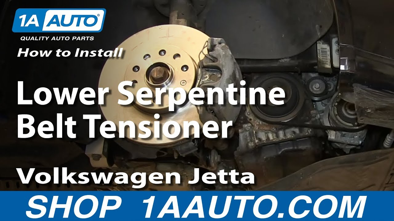 How To Install Replace Lower Serpentine Belt Tensioner 2005 10 25l Volkswagen Engine Diagrams Jetta Golf Youtube