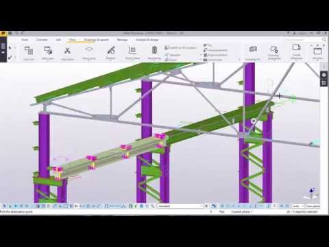 Crane girder reinforcement and Crane Rail clamping in TEKLA STRUCTURES 2016