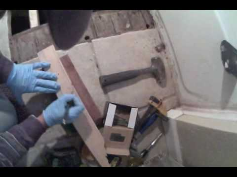 Bathroom Subfloor Repair YouTube - Bathroom subfloor replacement